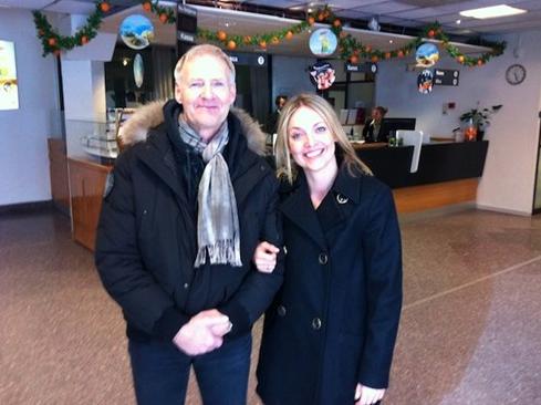 Lennart R Svensson och Sofia har precis improviserat och föreläst för personalen på Birka Cruises